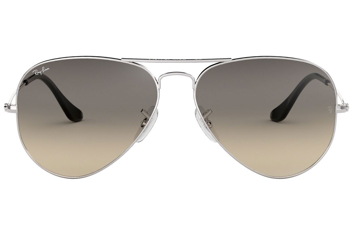 Ray-Ban Aviator Gradient RB3025 003/32. Frame color: Silver, Lens color: Grey, Frame shape: Pilot