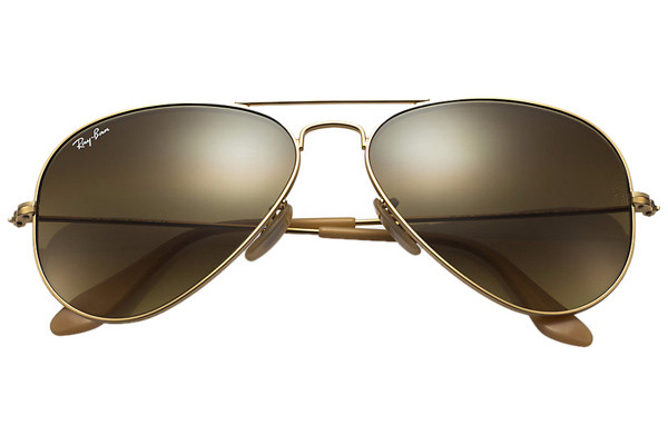 Ray-Ban Aviator Gradient RB3025 112/85. Frame color: Gold, Lens color: Brown, Frame shape: Pilot