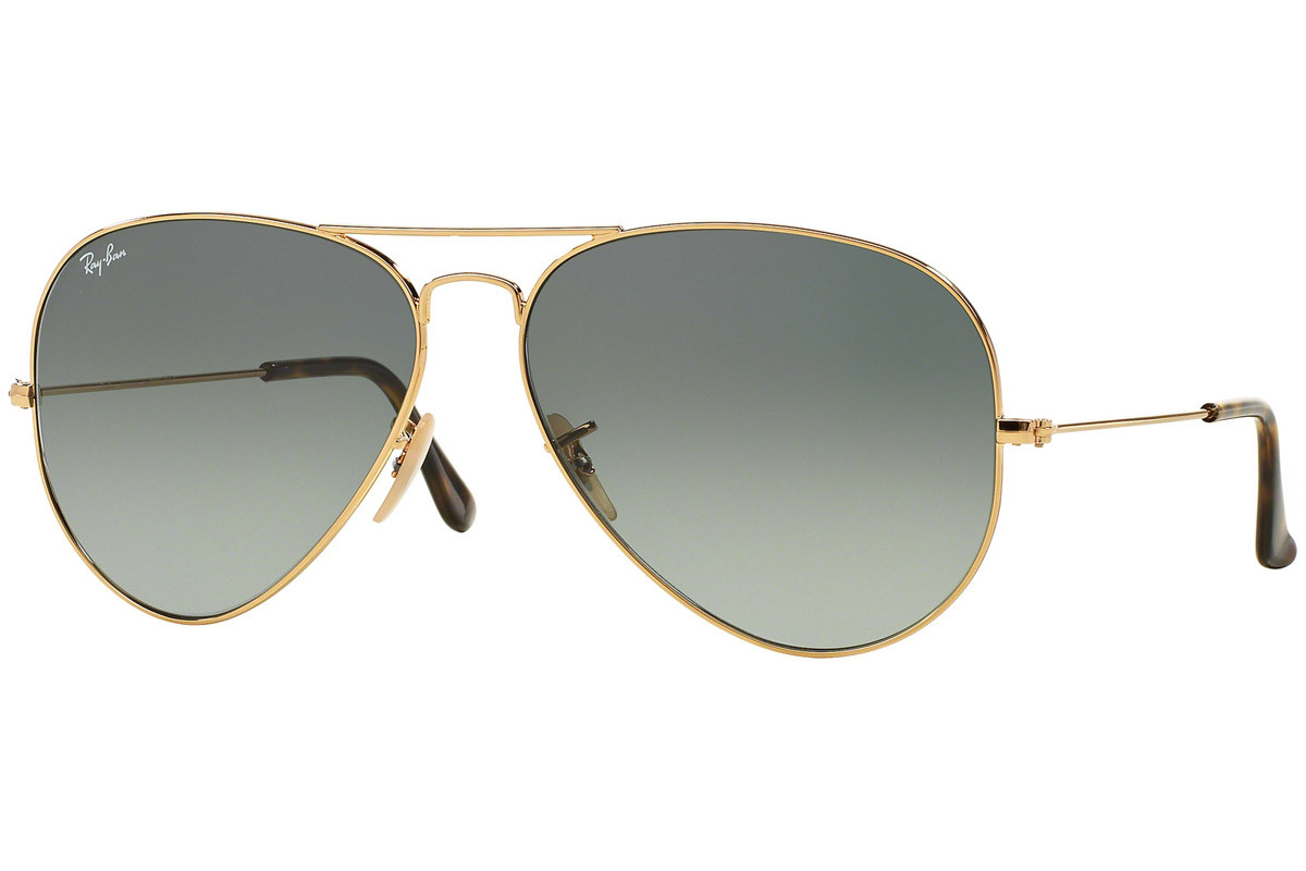Ray-Ban Aviator Havana Collection RB3025 181/71. Ramfärg: Guld, Glasens Färg: Grå, Bågform: Pilot