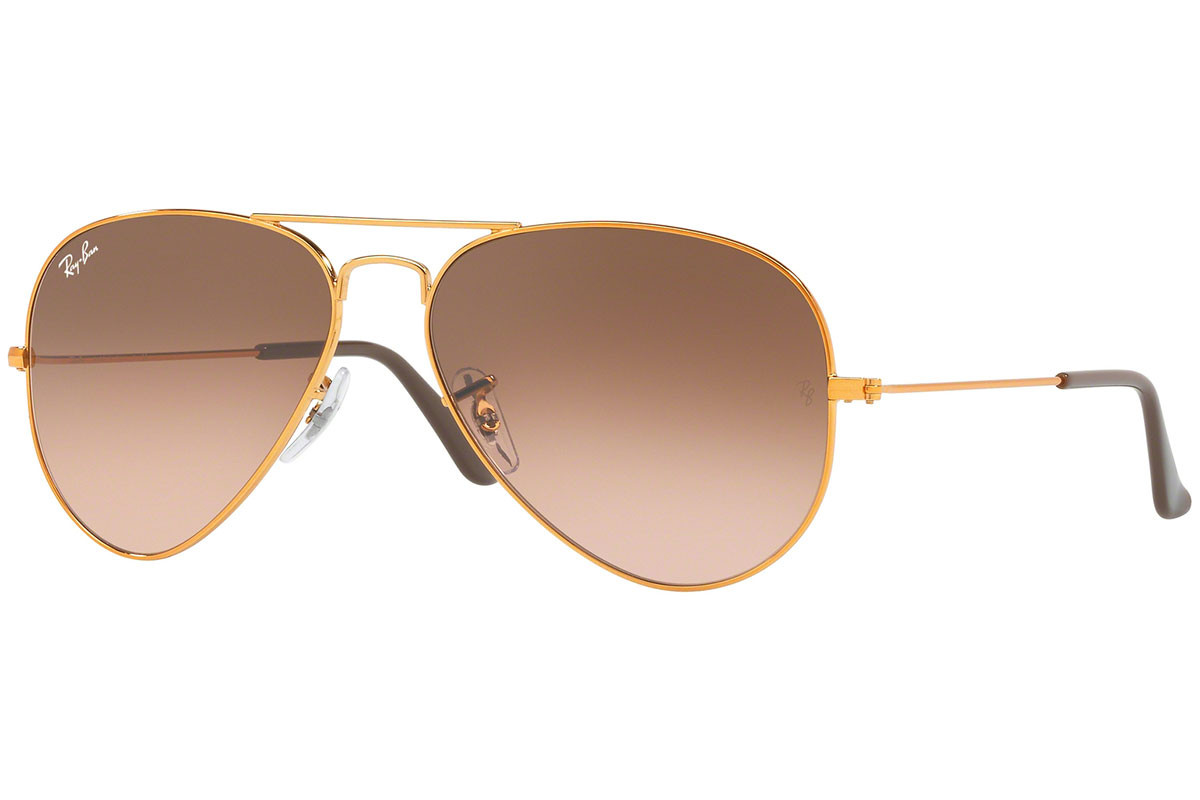 Ray-Ban Aviator Gradient RB3025 9001A5. Frame color: Zlatni, Lens color: Ružičasti, Frame shape: Pilotski