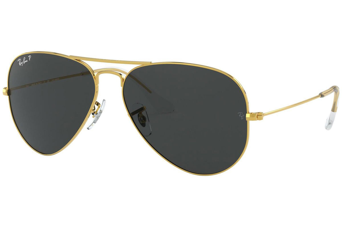 Ray-Ban Aviator RB3025 919648 Polarized. Frame color: Gold, Lens color: Grey, Frame shape: Pilot