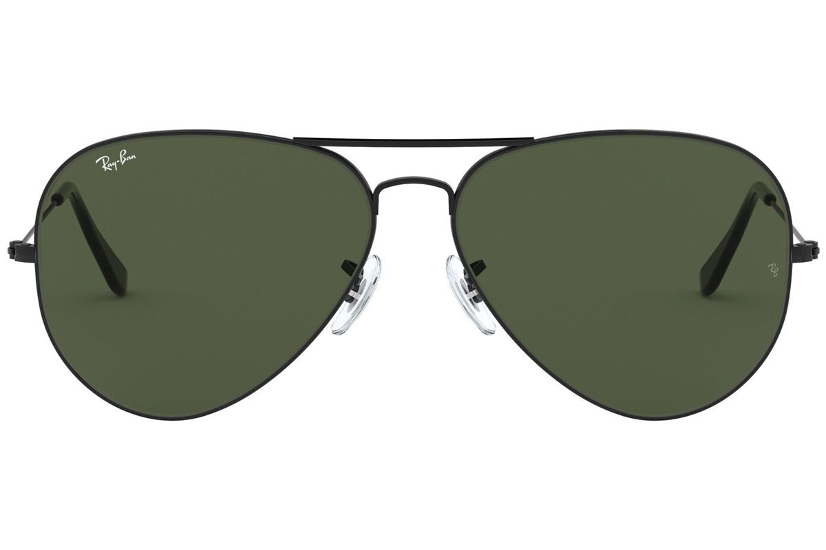 Ray-Ban Aviator Large Metal II RB3026 L2821. Frame color: Črna, Lens color: Zelena, Frame shape: Pilotska