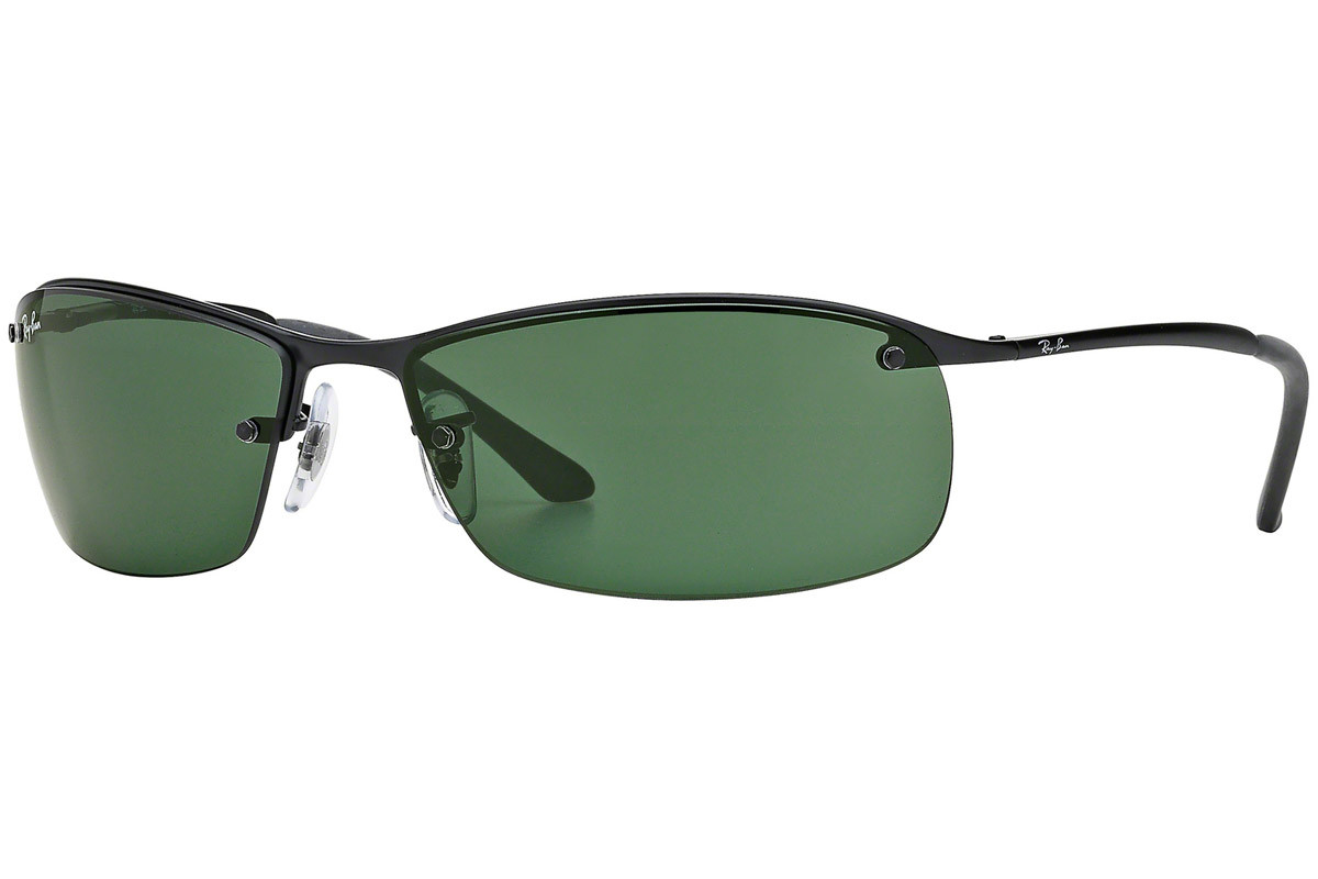 Ray-Ban RB3183 006/71. Frame color: Črna, Lens color: Zelena, Frame shape: Pravokotna