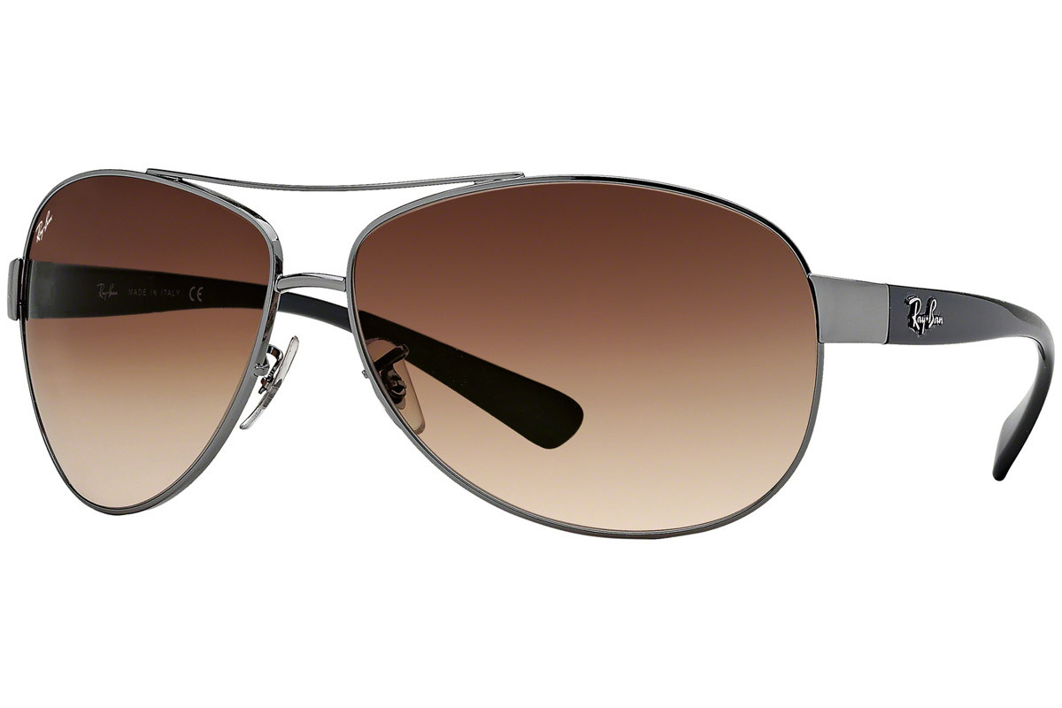Ray-Ban RB3386 004/13. Frame color: Сива, Lens color: Кафява, Frame shape: Пилотни