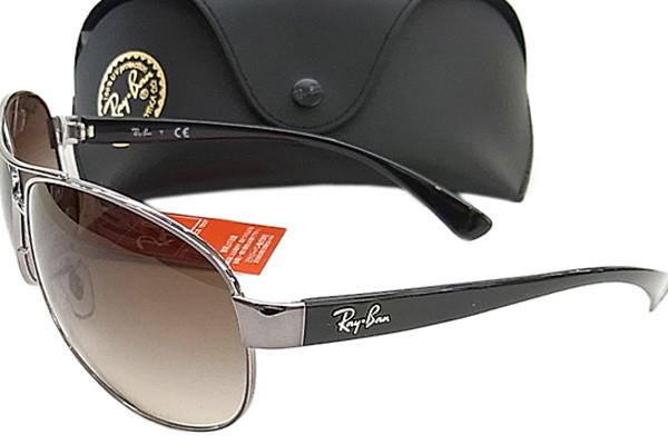 Ray-Ban RB3386 004/13. Frame color: Sivi, Lens color: Smeđi, Frame shape: Pilotski