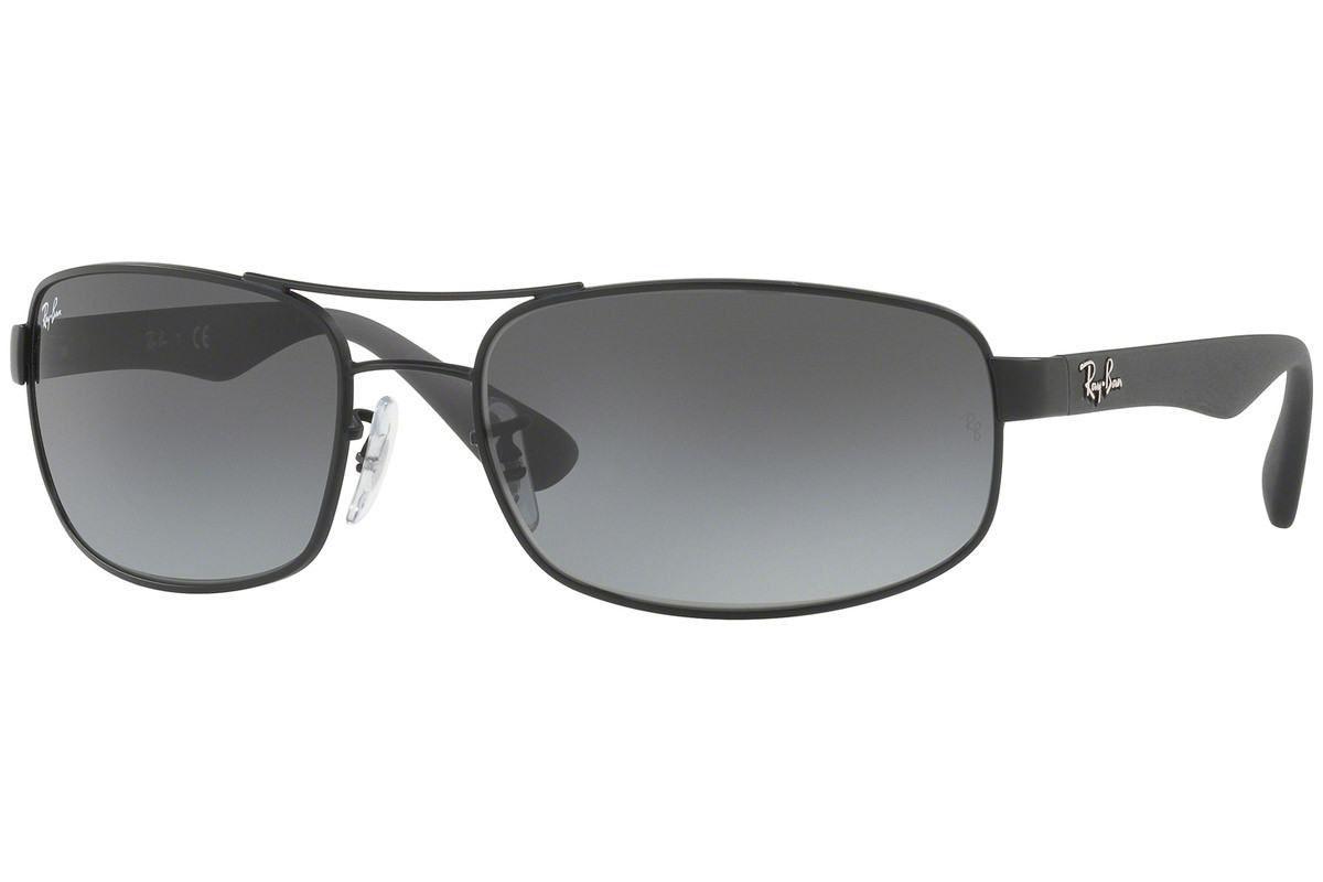 Ray-Ban RB3445 006/11. Frame color: Schwarz, Lens color: Grau, Frame shape: Rechteck