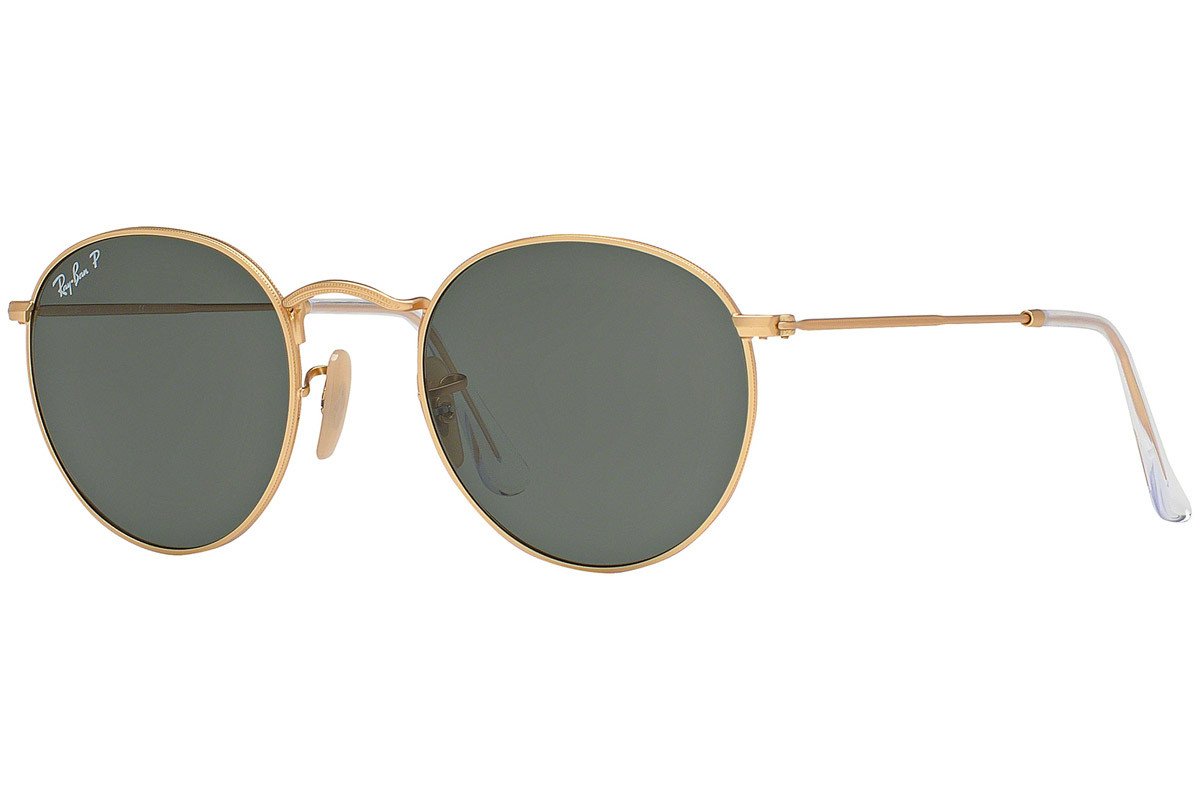 Ray-Ban Round Metal RB3447 112/58 Polarized. Frame color: Златна, Lens color: Зелена, Frame shape: Заоблени