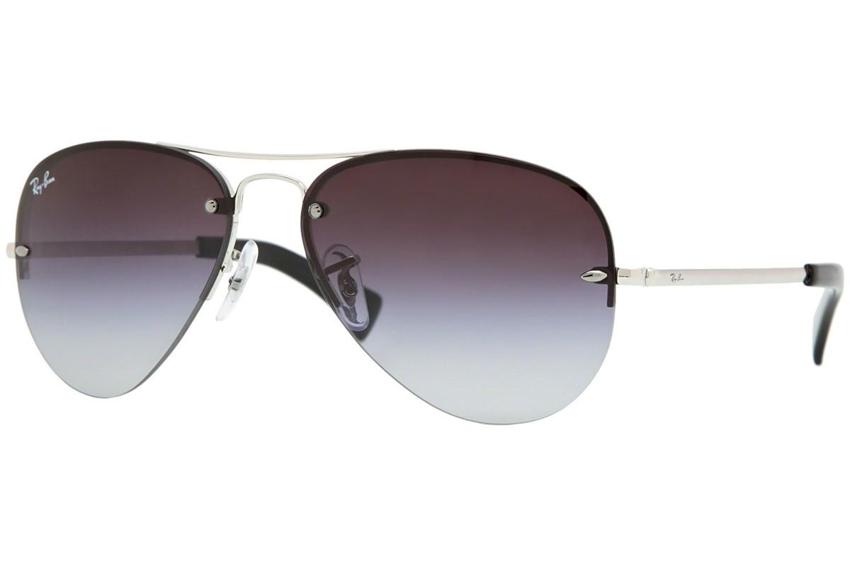 Ray-Ban RB3449 003/8G. Culoare rame: Argintii, Culoare lentile: Gri, Formă rame: Pilot