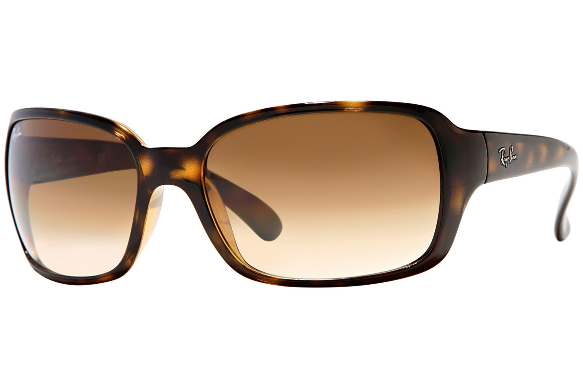 Ray-Ban RB4068 710/51. Frame color: Havana, Lens color: Brown, Frame shape: Squared