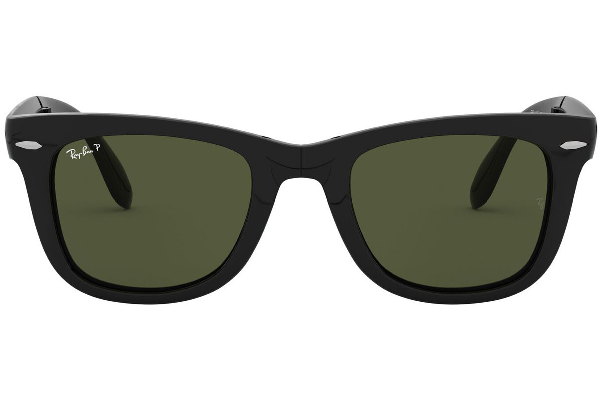 Ray-Ban Wayfarer Folding Classic RB4105 601/58 Polarized. Frame color: Crni, Lens color: Zeleni, Frame shape: Kvadratni