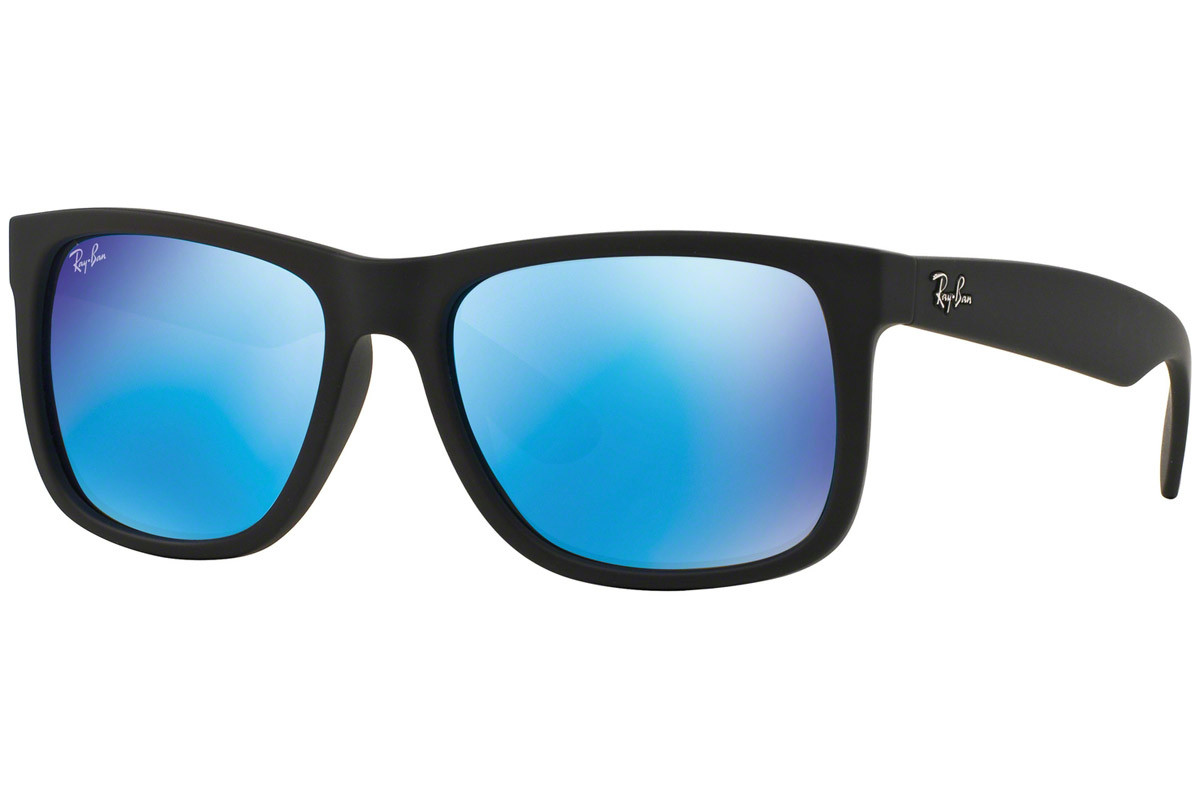 Ray-Ban Justin Color Mix RB4165 622/55. Frame color: Black, Lens color: Blue, Frame shape: Squared