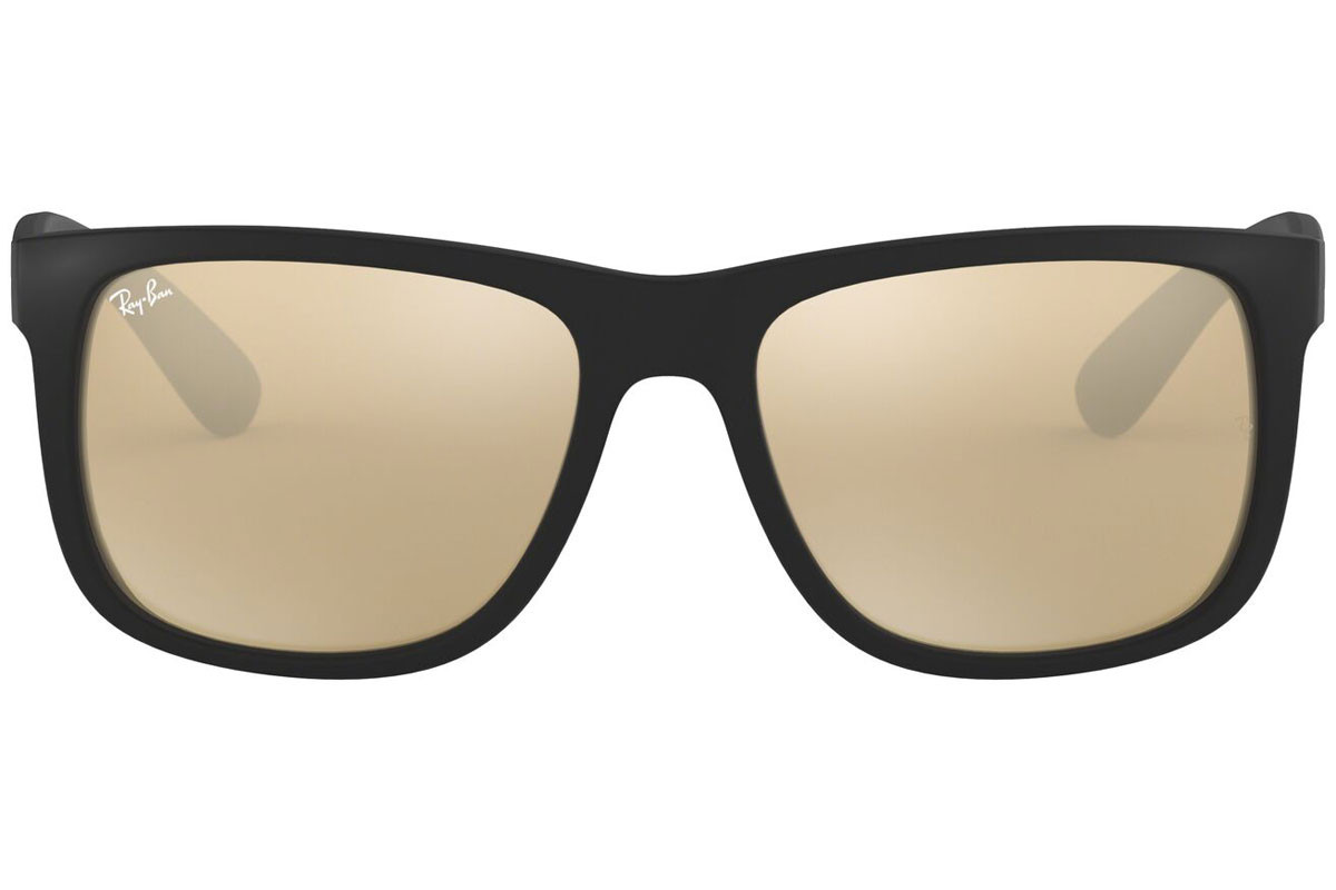 Ray-Ban Justin Color Mix RB4165 622/5A. Frame color: Black, Lens color: Gold, Frame shape: Squared