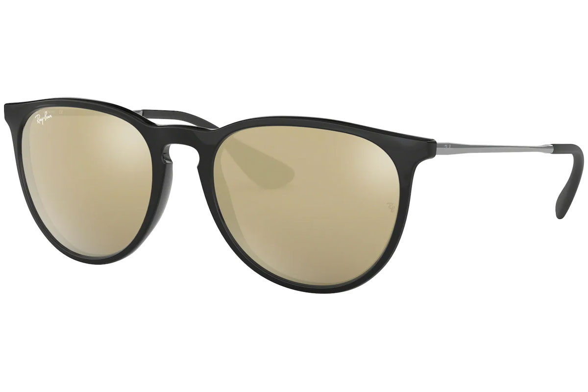 Ray-Ban Erika Color Mix RB4171 601/5A. Frame color: Crni, Lens color: Zlatni, Frame shape: Okrugao