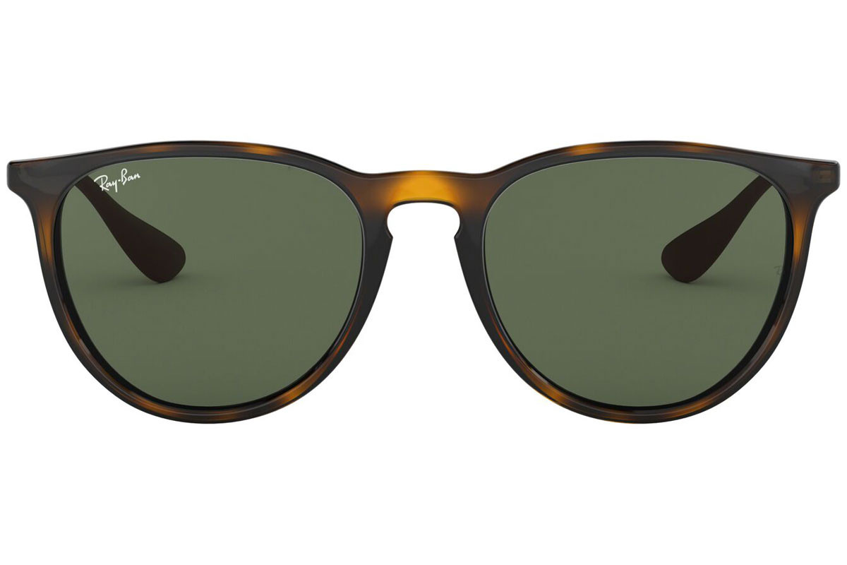 Ray-Ban Erika Classic Havana Collection RB4171 710/71. Kolor oprawek: Havana, Kolor Soczewek: Zielona, Kształt oprawki: Okrągłe