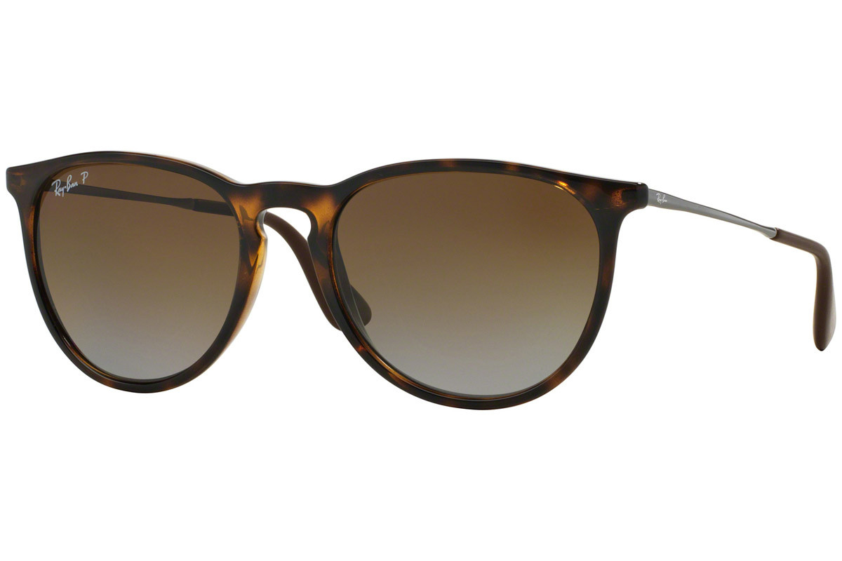 Ray-Ban Erika Classic Havana Collection RB4171 710/T5 Polarized. Ramfärg: Havana, Glasens Färg: Brun, Bågform: Runda