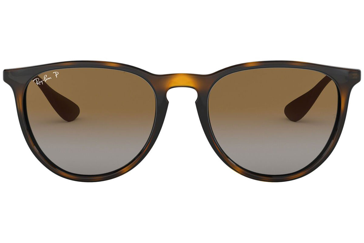 Ray-Ban Erika Classic Havana Collection RB4171 710/T5 Polarized. Stelfarve: Havana, Linse Farve: Brun, Stel: Rund
