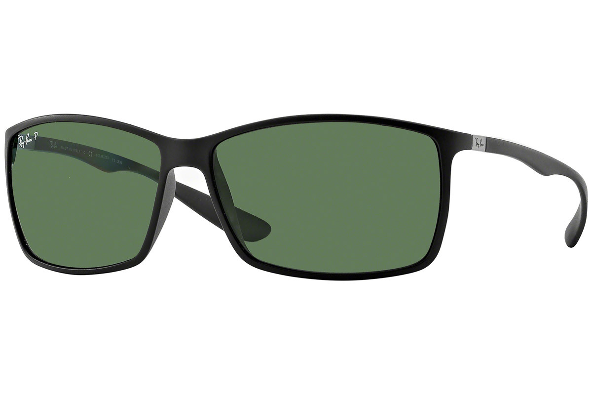 Ray-Ban RB4179 601S9A Polarized. Frame color: Черна, Lens color: Зелена, Frame shape: Правоъгълни