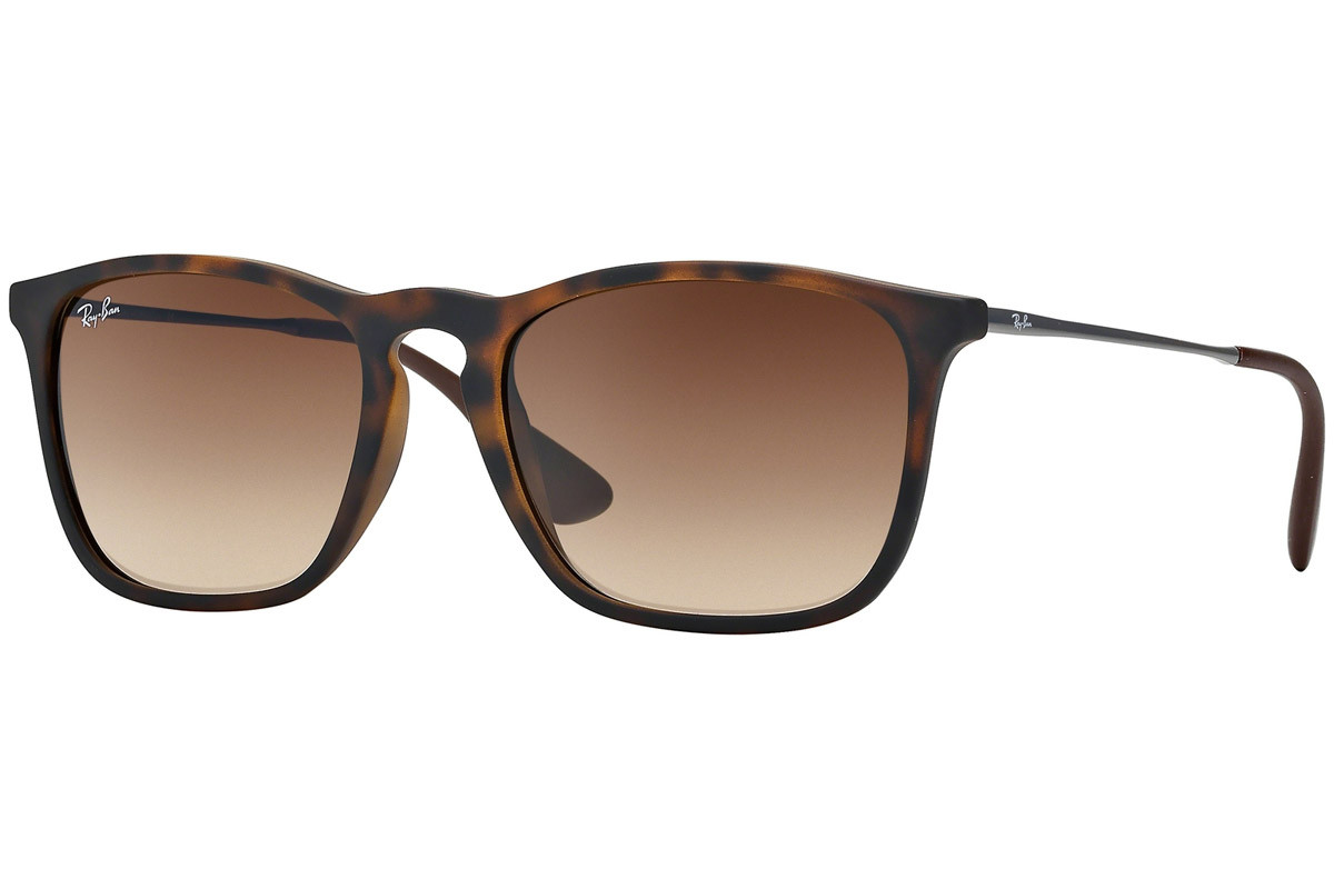Ray-Ban Chris RB4187 856/13. Frame color: Havana, Lens color: Smeđi, Frame shape: Kvadratni