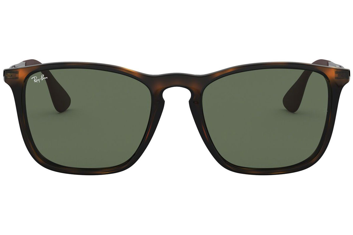 Ray-Ban Chris RB4187 710/71. Frame color: Havana, Lens color: Zelena, Frame shape: Kvadratna