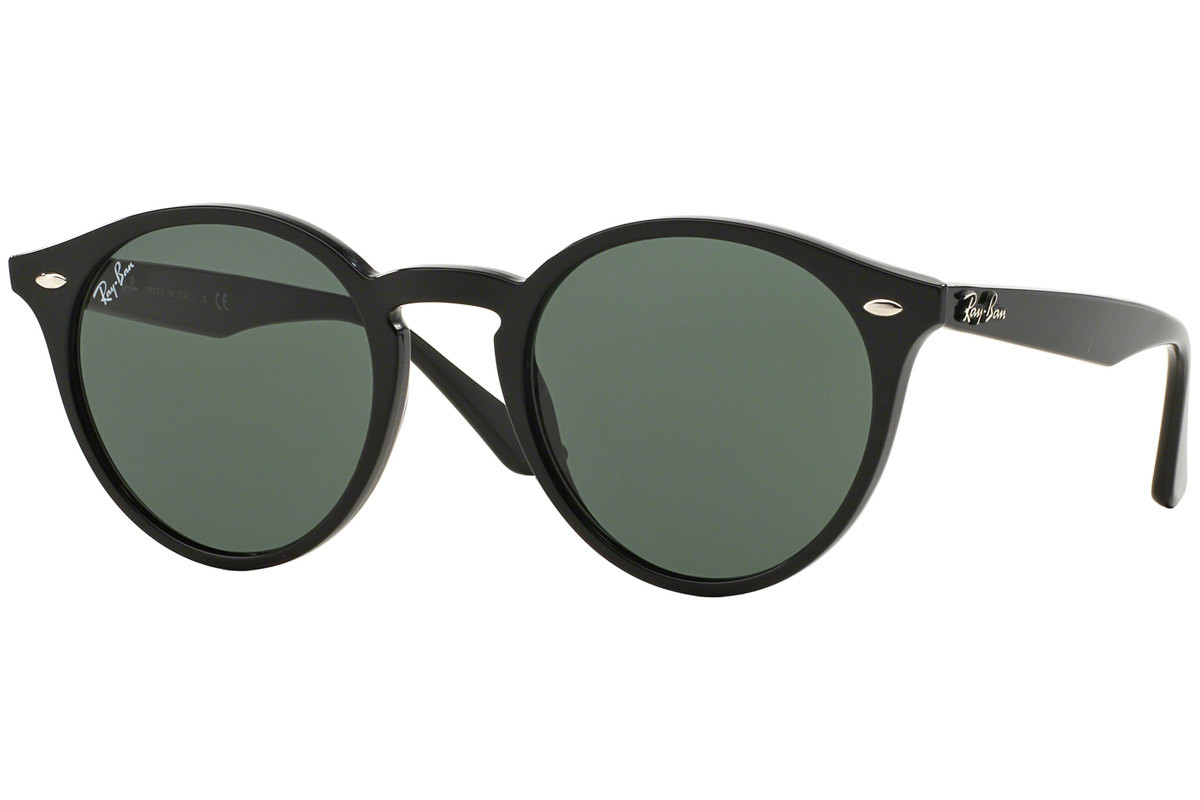 Ray-Ban RB2180 601/71. Frame color: Черна, Lens color: Зелена, Frame shape: Заоблени