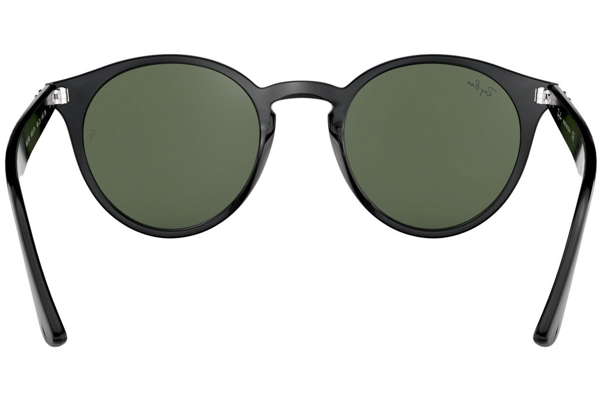 Ray-Ban RB2180 601/71. Frame color: Black, Lens color: Green, Frame shape: Round