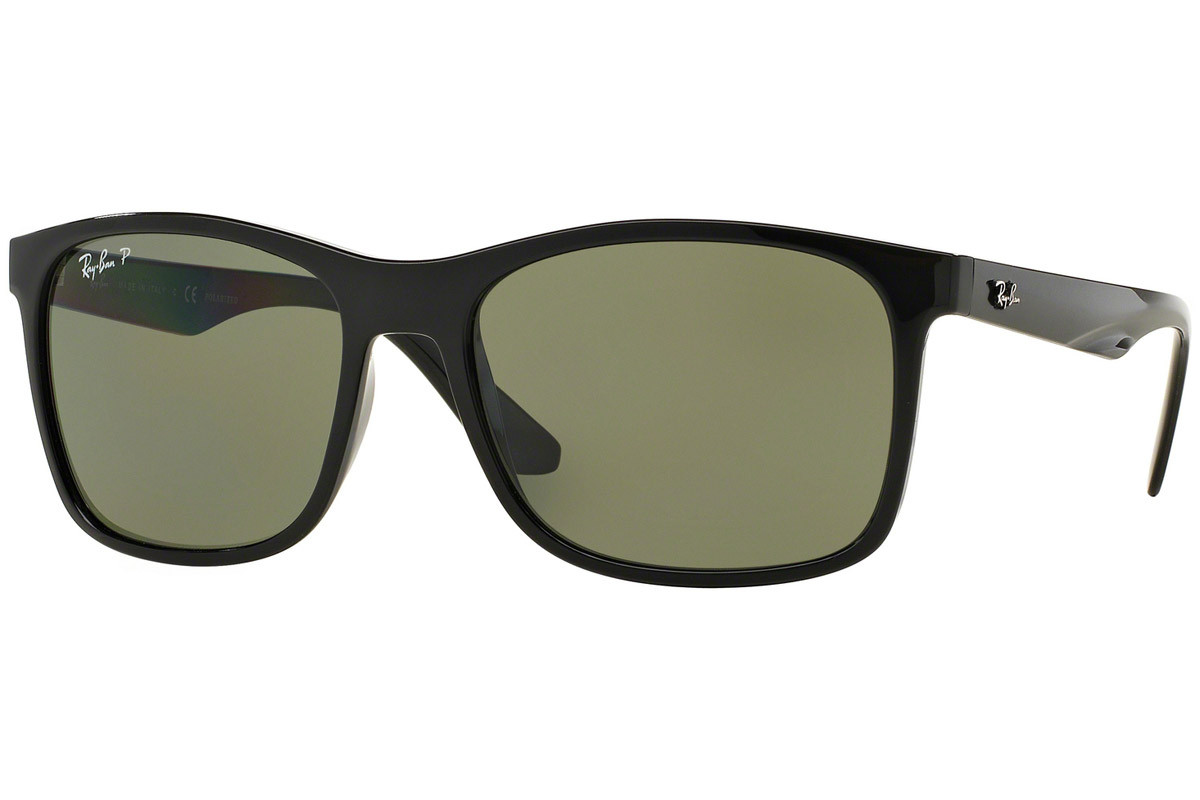 Ray-Ban RB4232 601/9A Polarized. Frame color: Черна, Lens color: Зелена, Frame shape: Квадратни