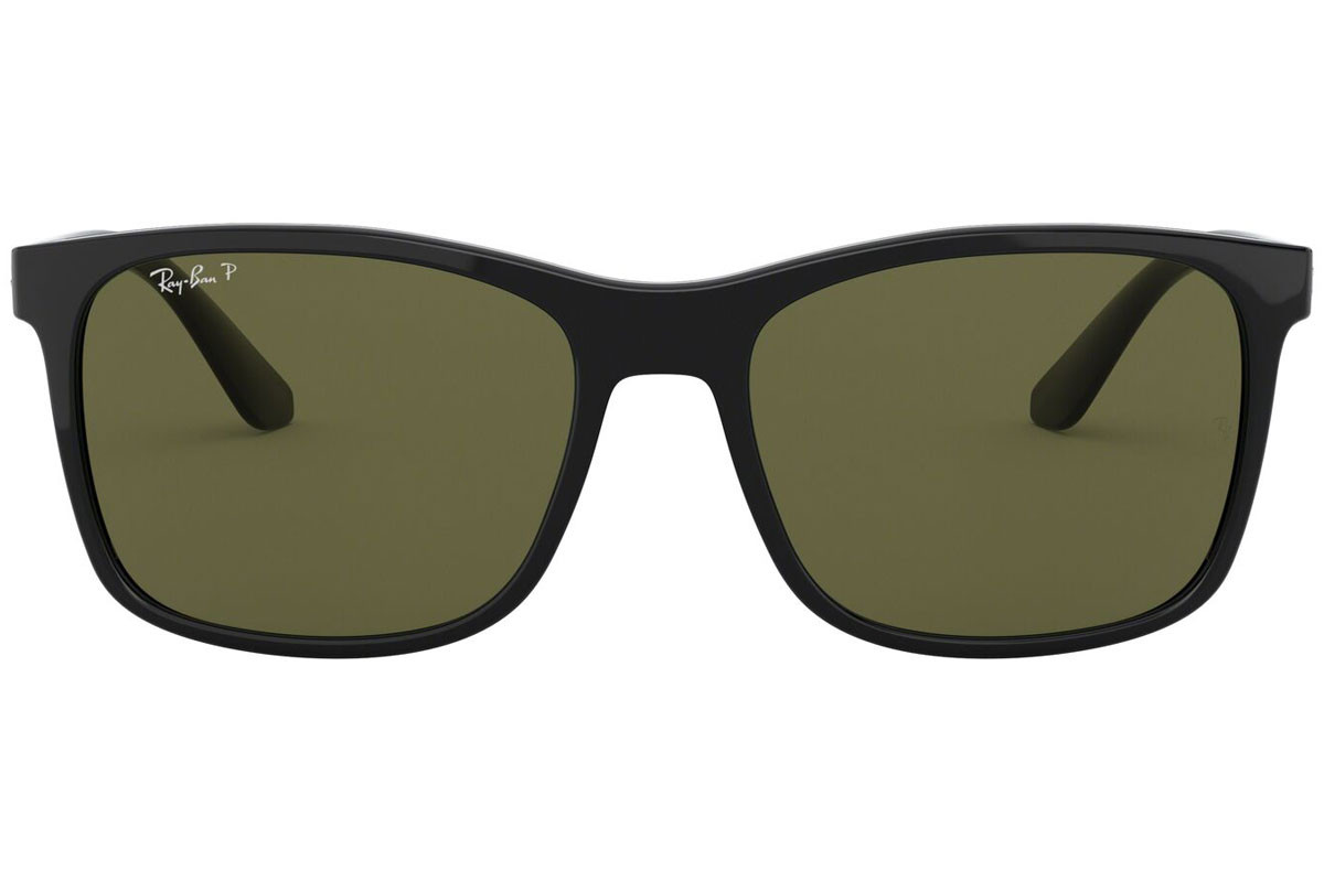Ray-Ban RB4232 601/9A Polarized. Frame color: Črna, Lens color: Zelena, Frame shape: Kvadratna