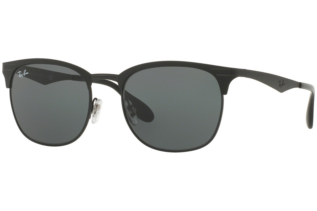 Ray-Ban RB3538 186/71. Frame color: Schwarz, Lens color: Grün, Frame shape: Browline