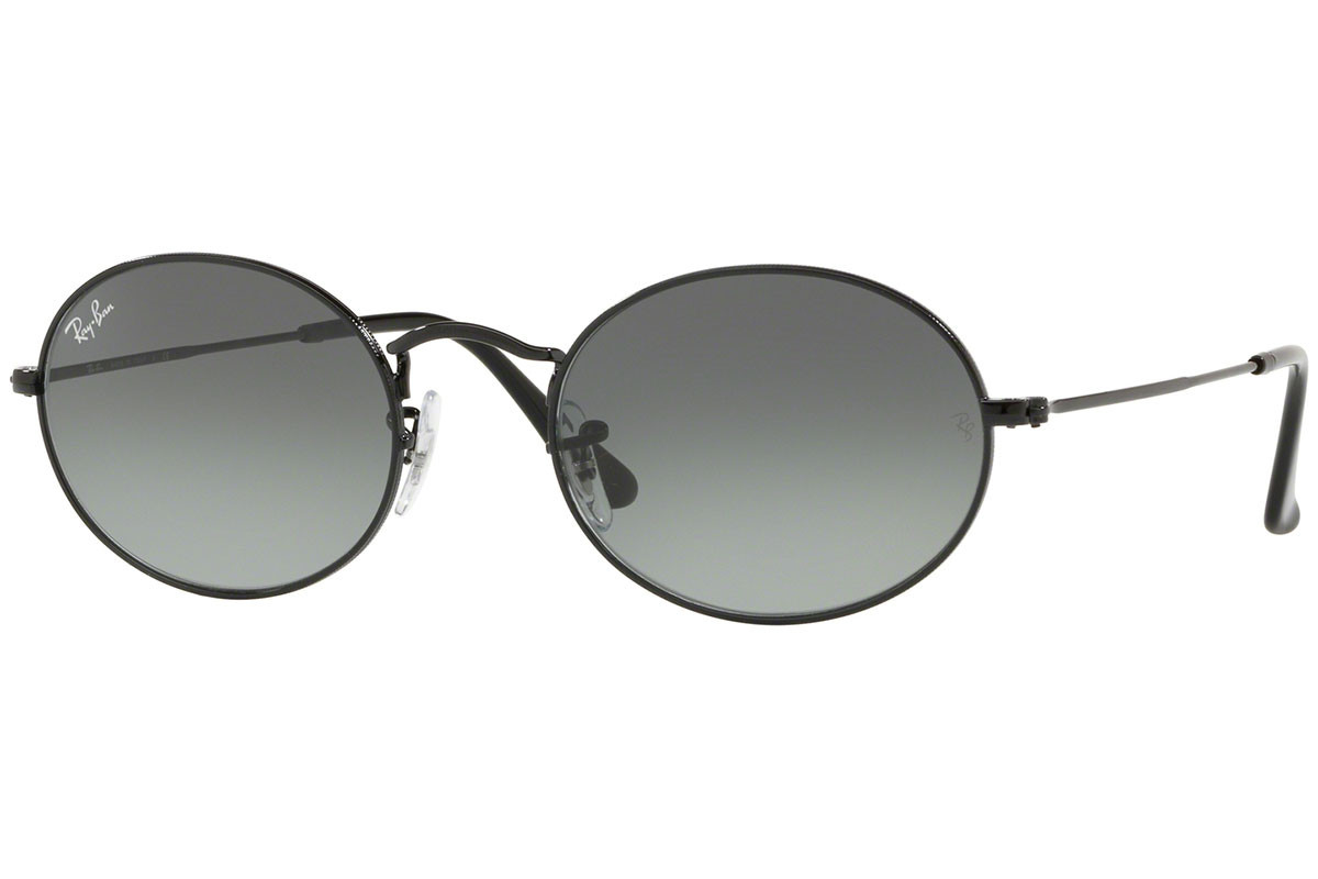 Ray-Ban Oval Flat Lenses RB3547N 002/71. Stelfarve: Sort, Linse Farve: Grå, Stel: Tiny