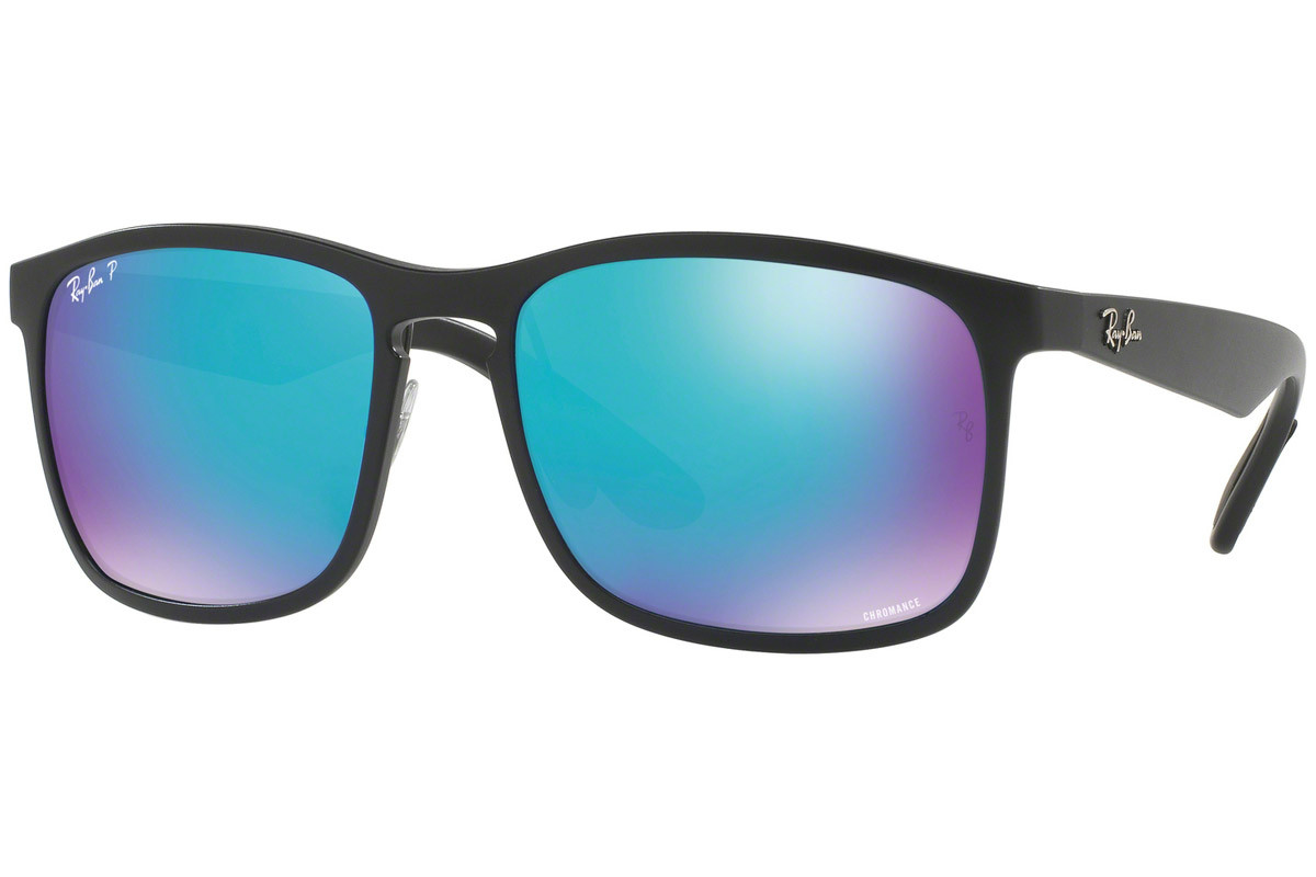 Ray-Ban Chromance Collection RB4264 601SA1 Polarized. Frame color: Schwarz, Lens color: Blau, Frame shape: Quadratisch