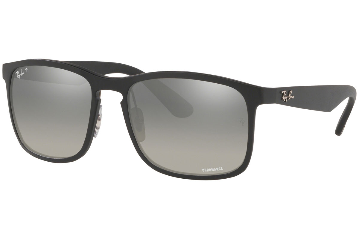 Ray-Ban Chromance Collection RB4264 601S5J Polarized. Montuurkleur: Zwart, Lenskleur: Grijs, Montuurvorm: Vierkant