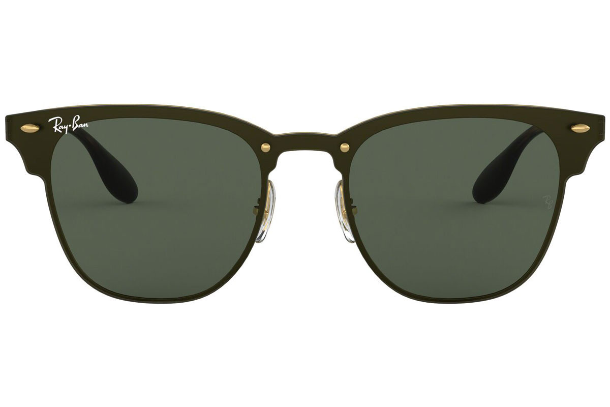 Ray-Ban Blaze Clubmaster Blaze Collection RB3576N 043/71. Stelfarve: Sort, Linse Farve: Grå, Stel: Browline