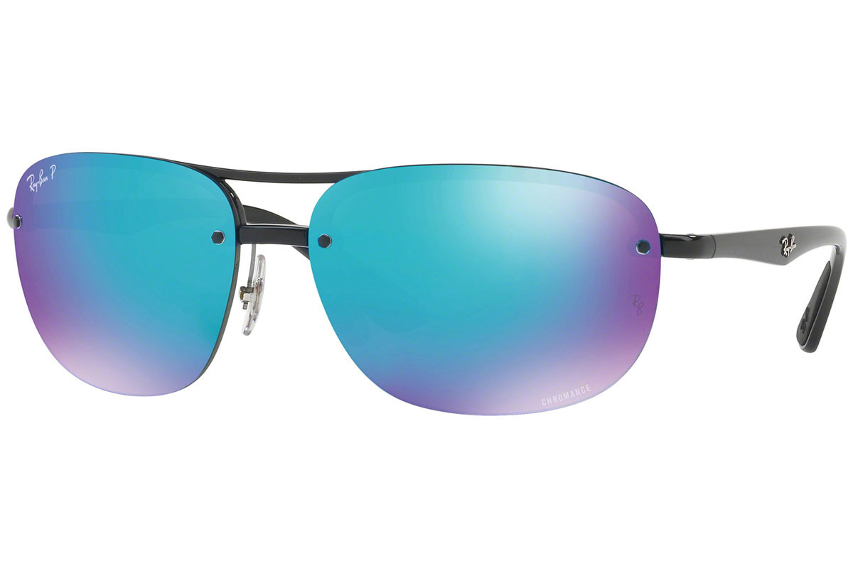 Ray-Ban Chromance Collection RB4275CH 601/A1 Polarized. Frame color: Crni, Lens color: Plavi, Frame shape: Pravokutan