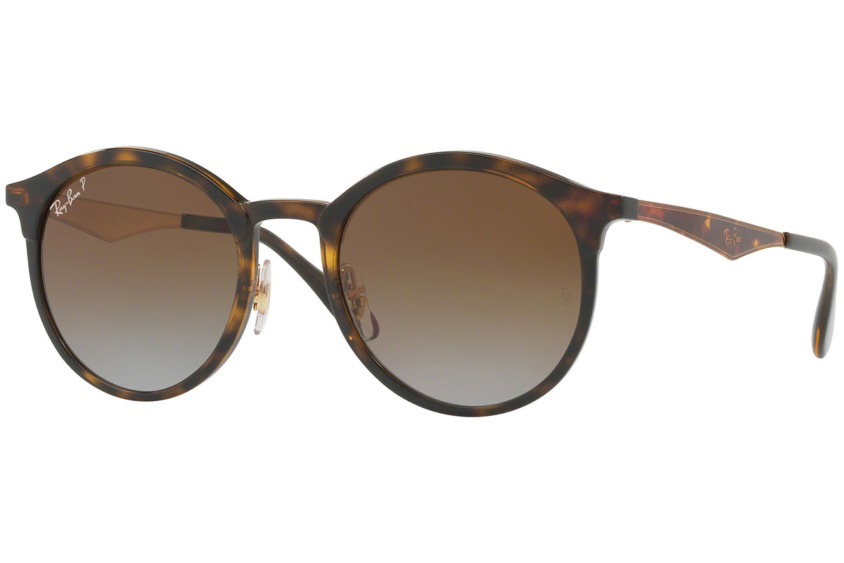 Ray-Ban Emma RB4277 710/T5 Polarized. Frame color: Havana, Lens color: Smeđi, Frame shape: Okrugao