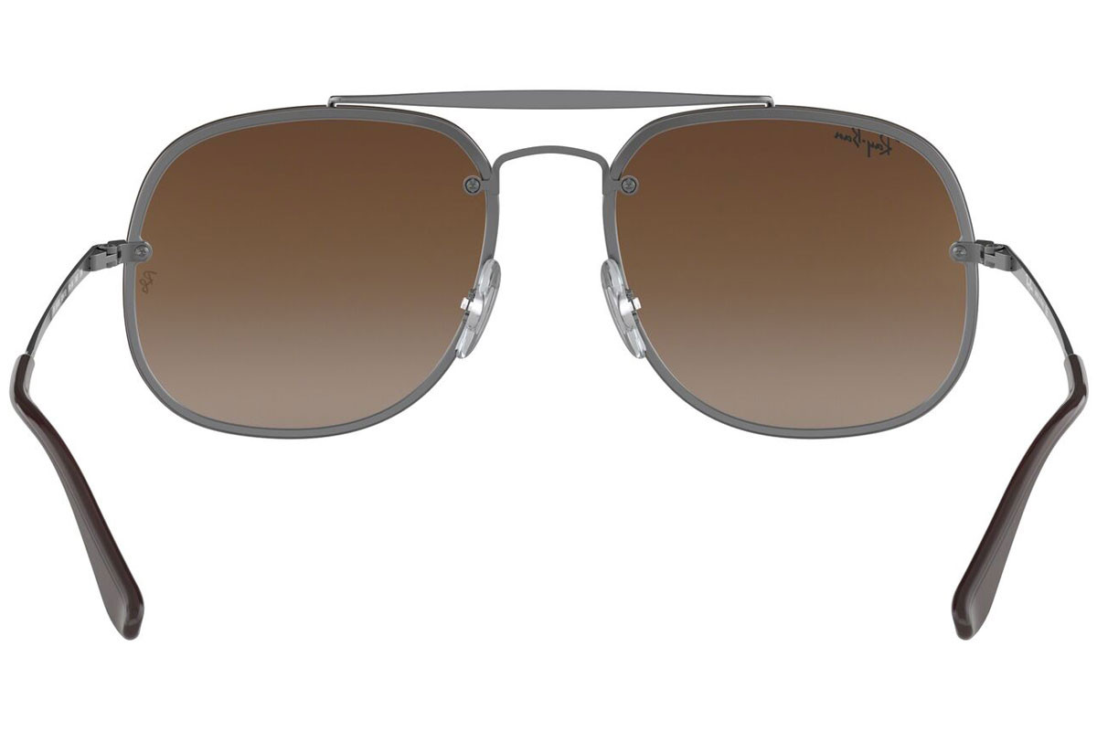 Ray-Ban Blaze General Blaze Collection RB3583N 004/13. Frame color: Сребърна, Lens color: Кафява, Frame shape: Пилотни