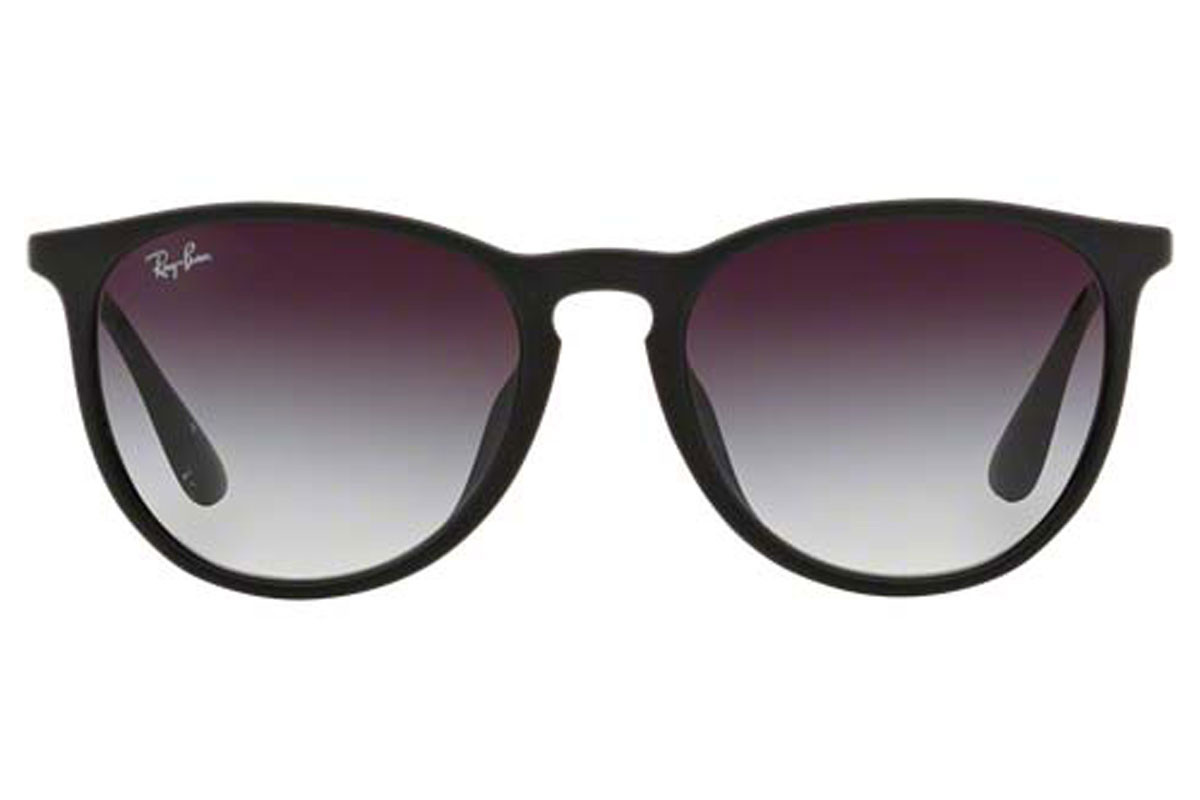 Ray-Ban RB4171F 622/8G. Frame color: Black, Lens color: Grey, Frame shape: Round