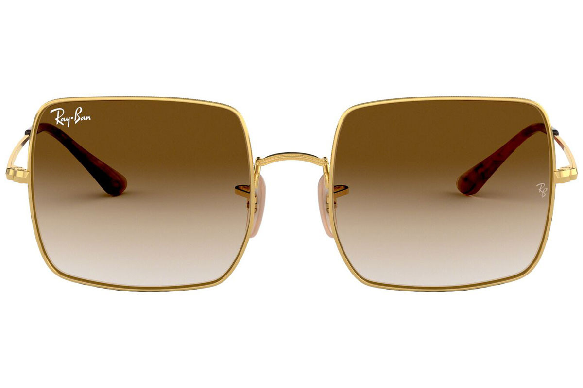 Ray-Ban Square 1971 Classic RB1971 914751. Frame color: Златна, Lens color: Кафява, Frame shape: Квадратни