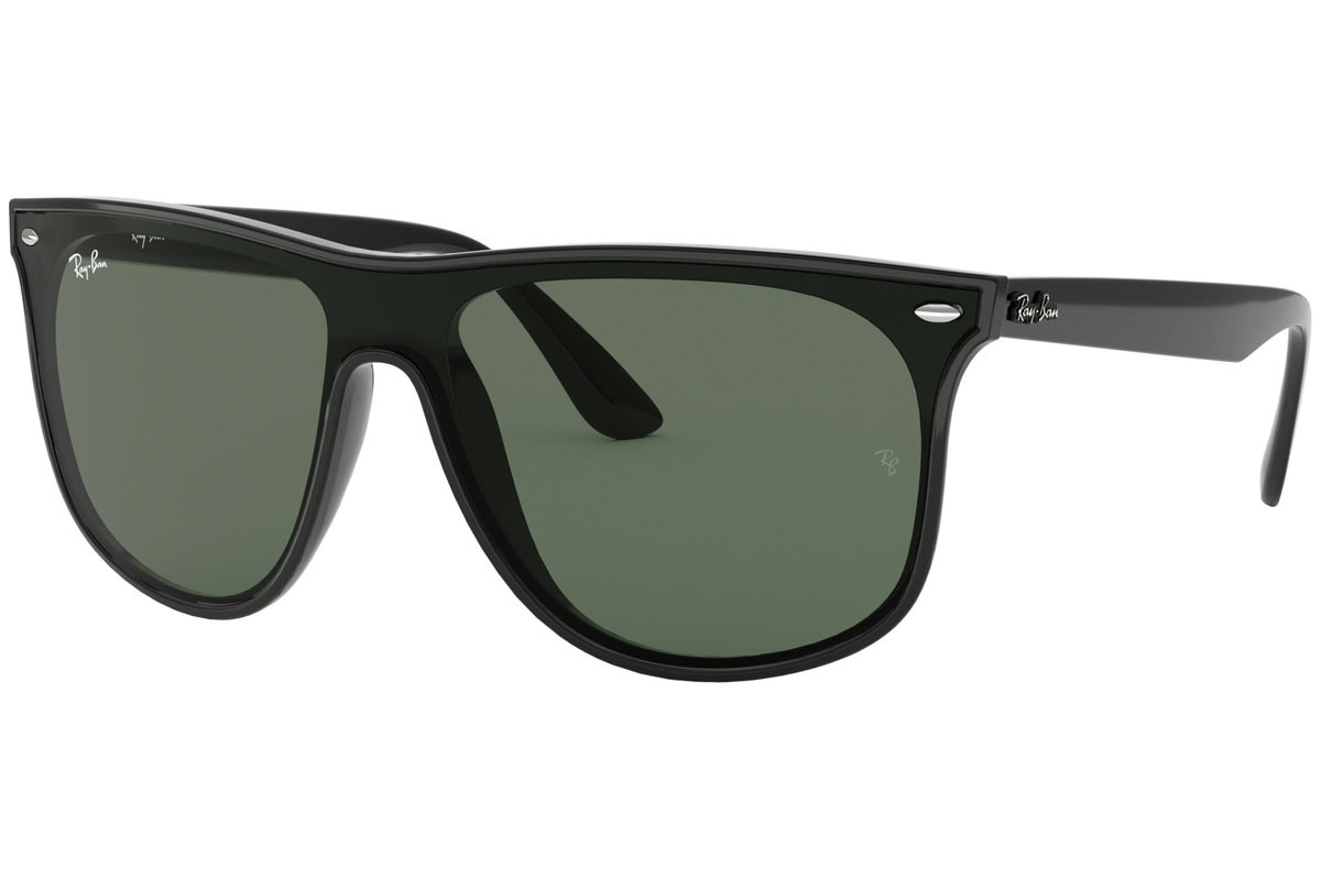 Ray-Ban Blaze Collection RB4447N 601/71. Frame color: Black, Lens color: Green, Frame shape: Flat Top
