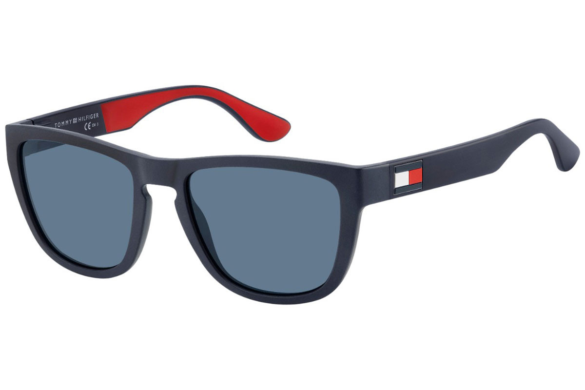 Tommy Hilfiger TH1557/S 8RU/KU. Frame color: Blue, Lens color: Blue, Frame shape: Rectangular