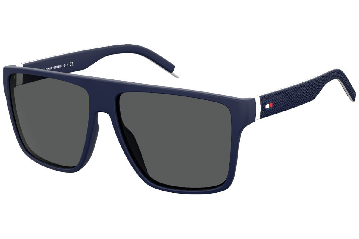 Tommy Hilfiger TH1717/S 0JU/IR. Frame color: Blau, Lens color: Grau, Frame shape: Flat Top