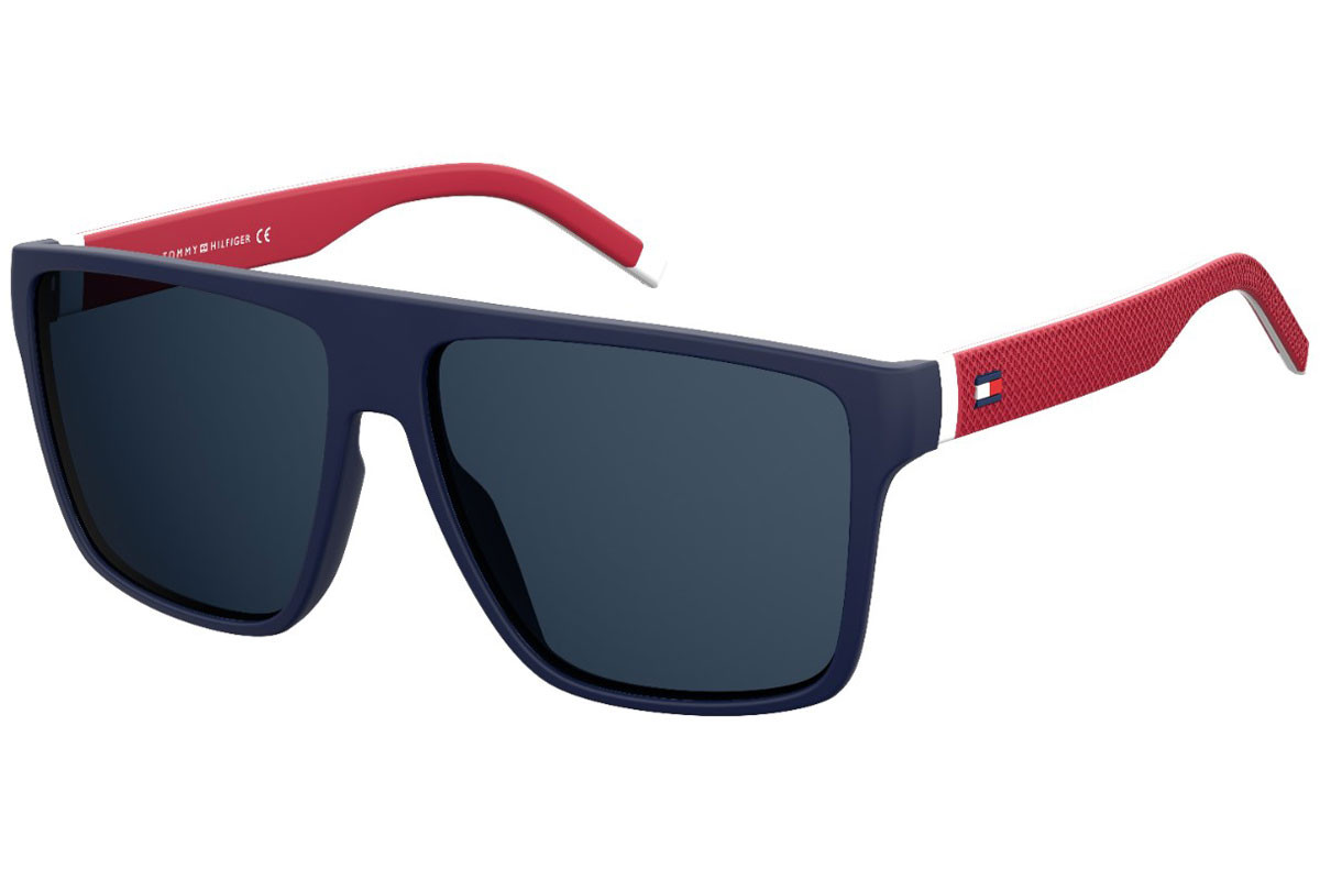 Tommy Hilfiger TH1717/S 8RU/KU. Frame color: Blau, Lens color: Blau, Frame shape: Flat Top