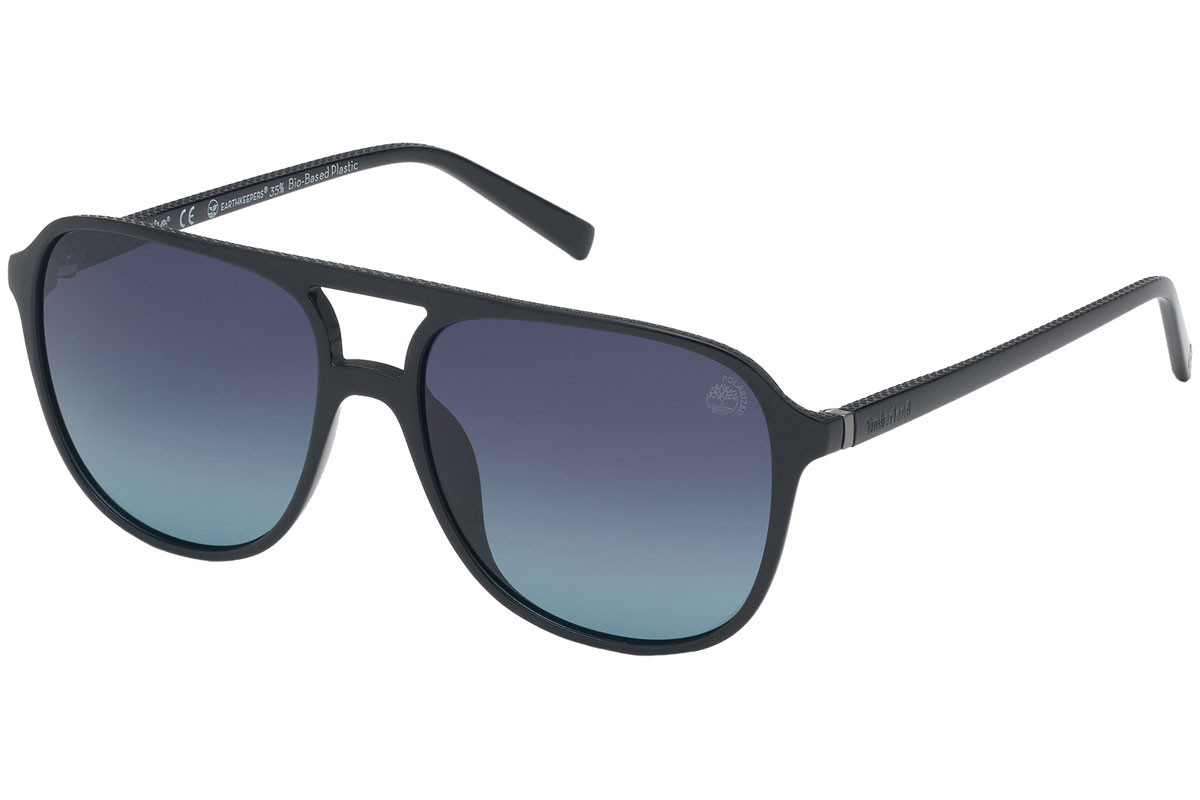 Timberland TB9190 01D Polarized. Frame color: Schwarz, Lens color: Grau, Frame shape: Pilot