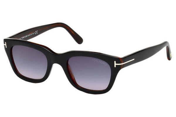 Tom Ford Snowdon FT0237 05B. Frame color: Black, Lens color: Grey, Frame shape: Squared
