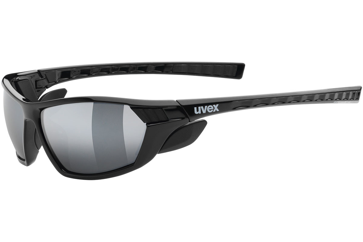uvex sportstyle 307 2116. Frame color: Black, Lens color: Grey, Frame shape: Rectangular