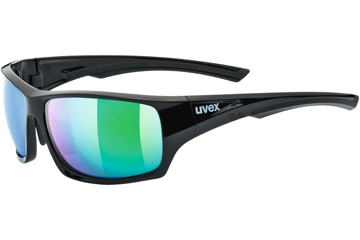 uvex sportstyle 222 pola 2770 Polarized. Frame color: Black, Lens color: Green, Frame shape: Rectangular