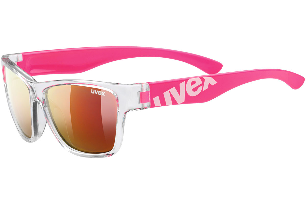 uvex sportstyle 508 9316. Frame color: Crystal, Lens color: Red, Frame shape: Squared