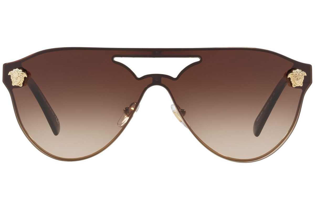 Versace VE2161 125213. Frame color: Gold, Lens color: Brown, Frame shape: Single Lens