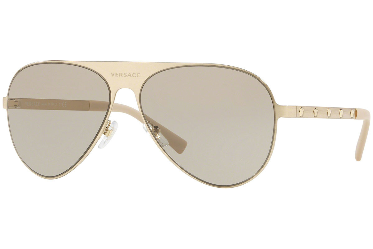 Versace VE2189 1339/3. Frame color: Gold, Lens color: Grey, Frame shape: Pilot