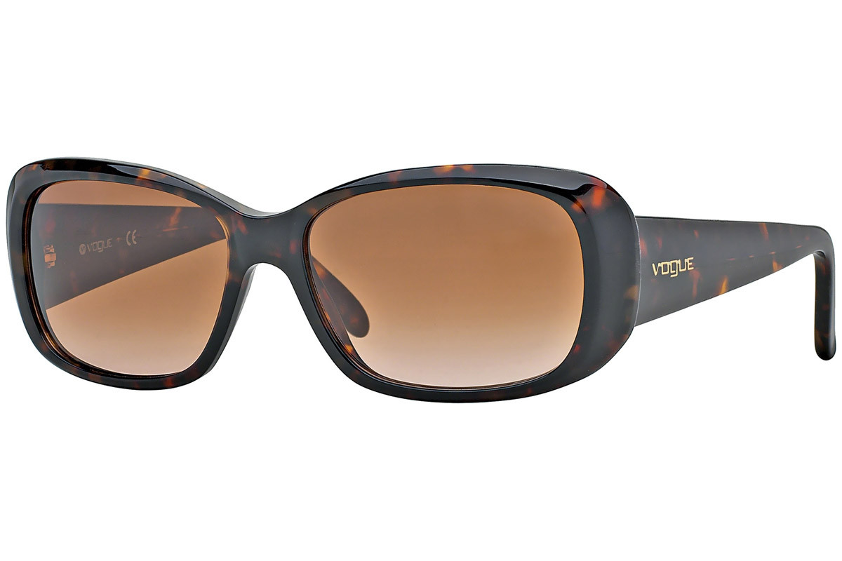 Vogue Boogie Woogie Special Collection VO2606S W65613. Frame color: Havana, Lens color: Rjava, Frame shape: Pravokotna