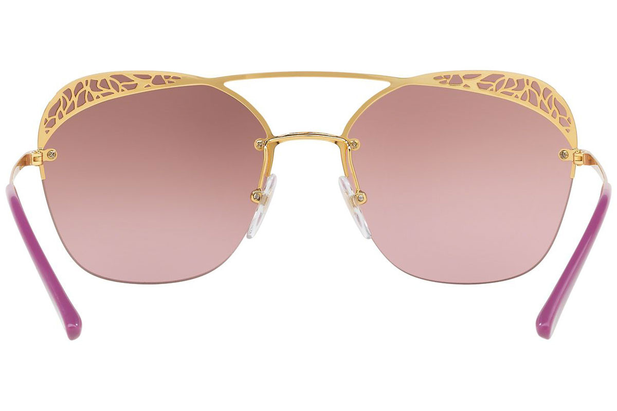 Vogue VO4104S 280/7A. Frame color: Gold, Lens color: Purple, Frame shape: Oversize